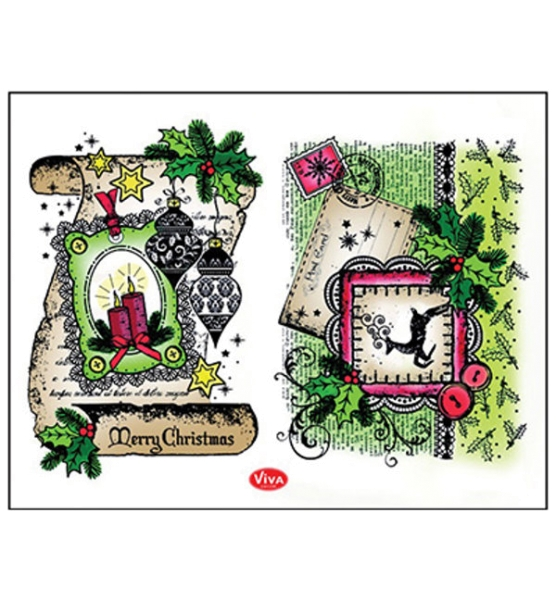 Schriftrolle: Merry Christmas - Stempel - Clearstamp