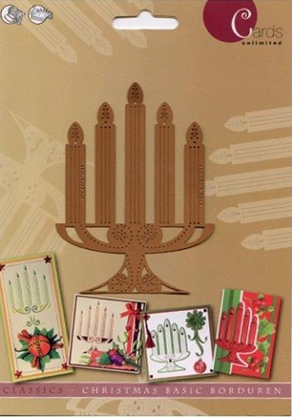 Kerzenständer - Prägeschablone / Embossing-Folder