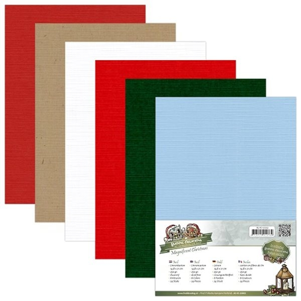 Magnificent Christmas DIN A5 - Yvonne Creations - Leinenpapier-Set