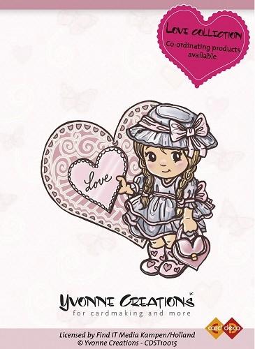 Mädchen mit Herz - ClearStamp / Stempel