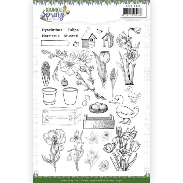 Botanical Spring - Stempel - Clearstamp