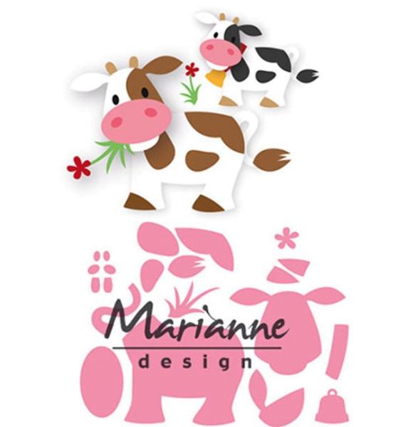 Kuh - Stanzschablone von Marianne Design