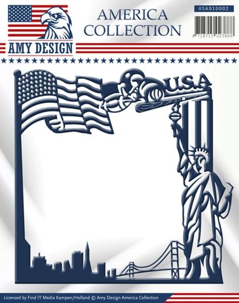 Stanzschablone - Amerika Frame / Rahmen
