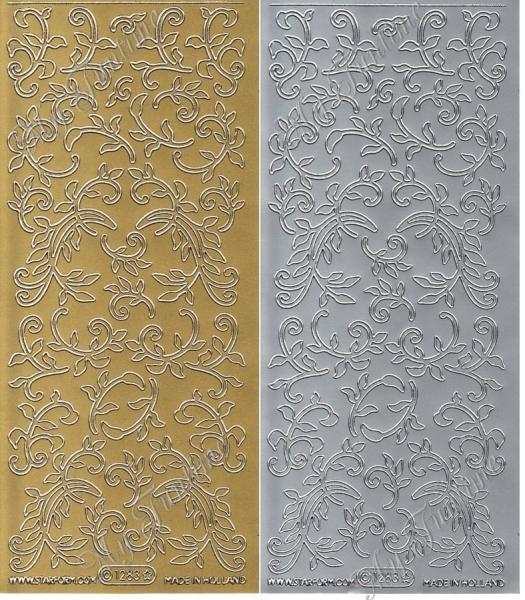 Swirl - Sticker - in Silber oder Gold - Format 10x23cm