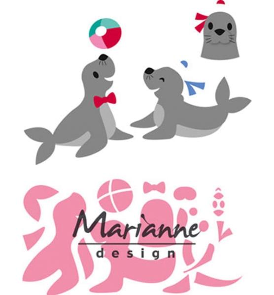 Seals / Seehunde / Robben - Stanzschablone von Marianne Design