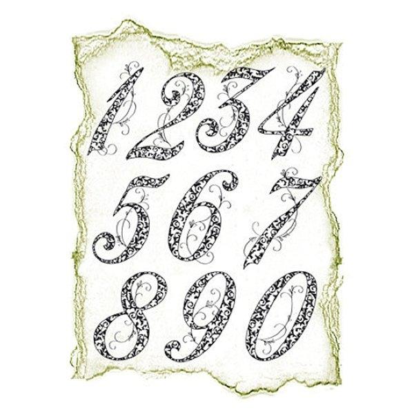 Zahlen z.B. für Jubiläum Stempel - Clearstamp