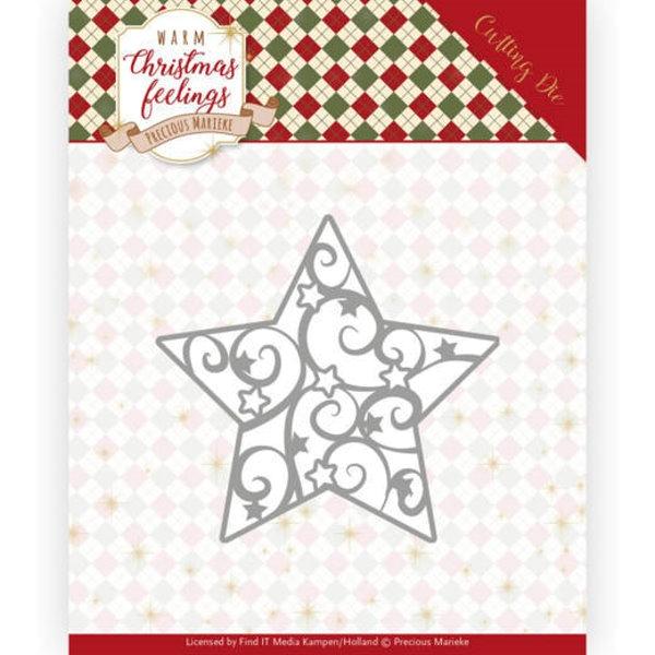 Swirl Star / Weihnachtsstern - Stanzschablone