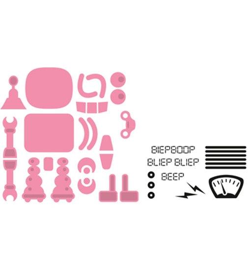 Roboter - Stanzschablone + Clearstamp´s im Set