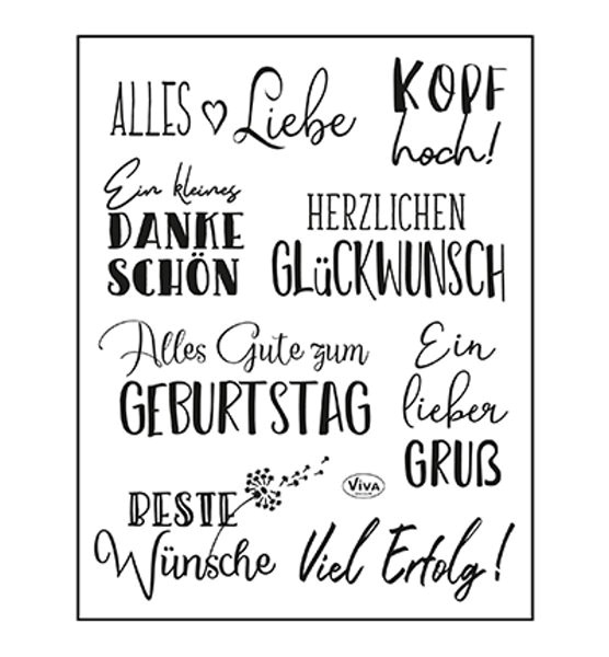 Alles Liebe - Stempel - Clearstamp