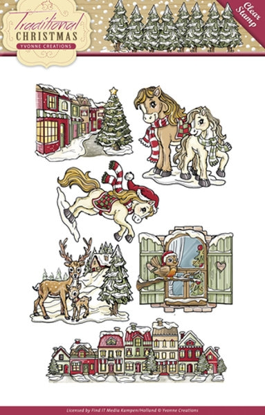 Traditional Christmas - Stempel / Clearstamp