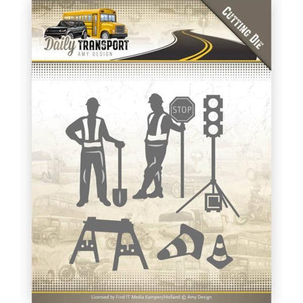 Strassenbauarbeiten / Road Construction - Stanzschablone