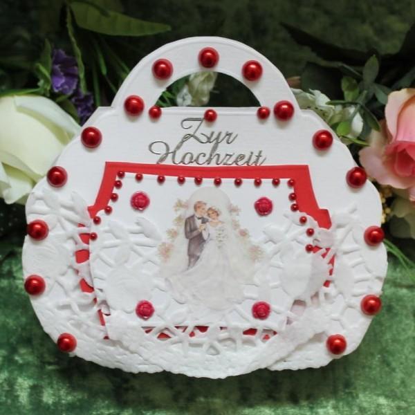 Geschenkbox, -Tasche Handarbeit zur Hochzeit