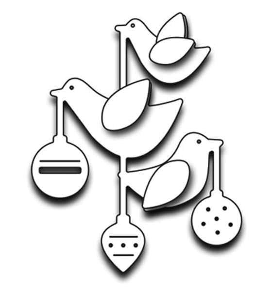 Ornamental birds - Stanzschablonen