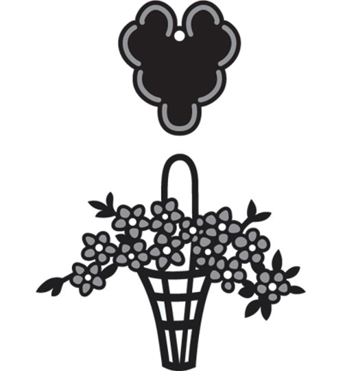 Blumenkorb - Stanz- und Prägeschablone