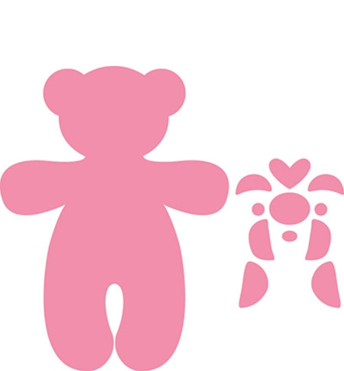 Teddybär - Stanzschablonen-Set