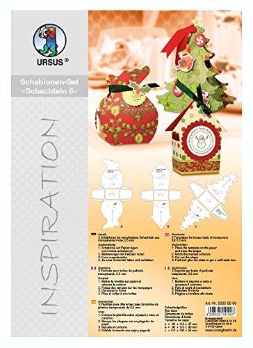 """Schablonen-Set """"Schachteln 6"""" - Weihnachten"""