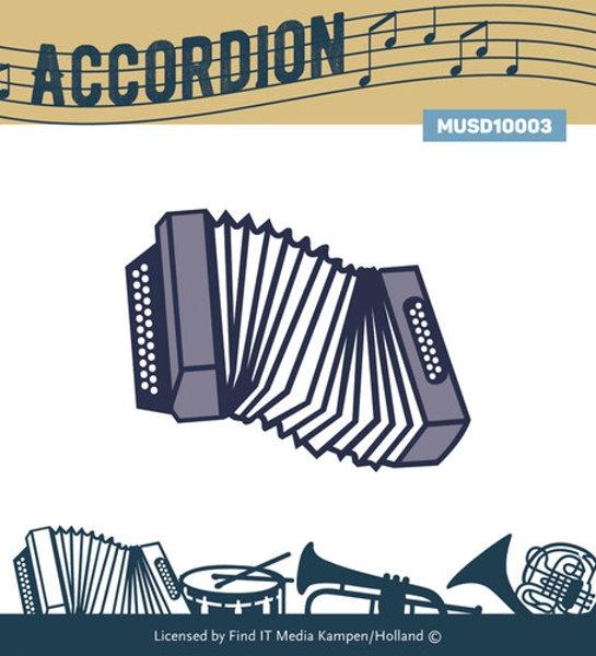 Akkordeon - Stanzschablone