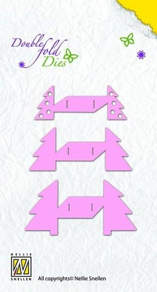 Weihnachtsbaum / Xmas tree open - Stanzschablone