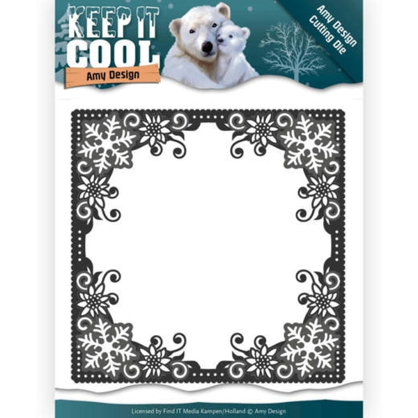 Cool Square Frame - Keep it Cool - Stanzschablone