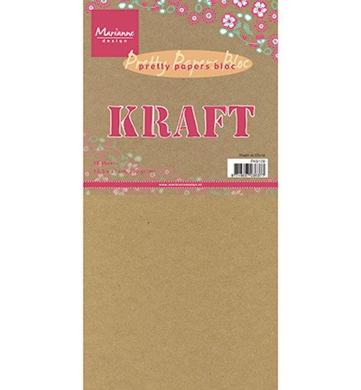 Motivpapier - Paper Blok - Kraftpapier