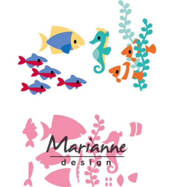 Tropische Fische - Stanzschablone von Marianne Design