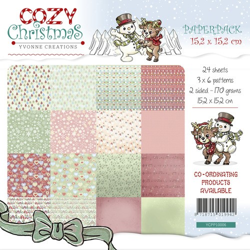 Motivpapier-Set / Scrapbook - Yvonne Creations - Cozy Christmas