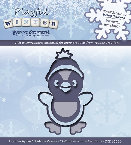 Stanz- und Prägeschablone - Yvonne Creation - Pinguin - YCD10013