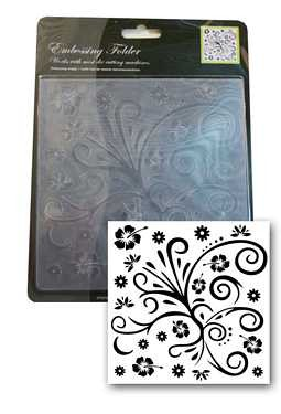 Blumenmotive - Swirl - Prägeschablone / Embossing Folder