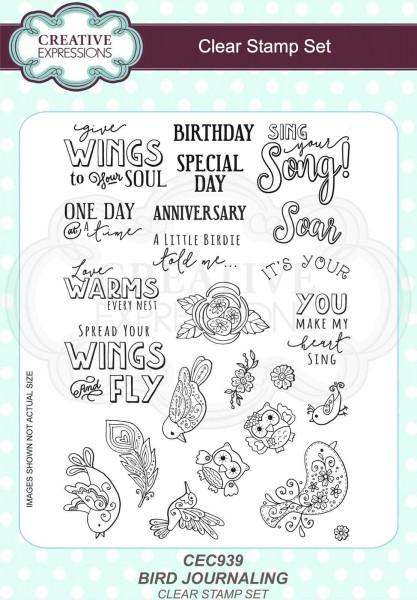 Bird Journaling - Clear Stamp - Stempelplatte von Creative Expressions (CEC939)