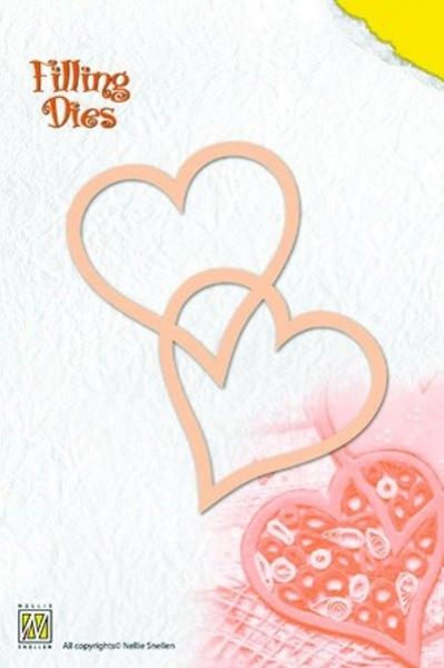verschlungene Herzen - Stanzschablone