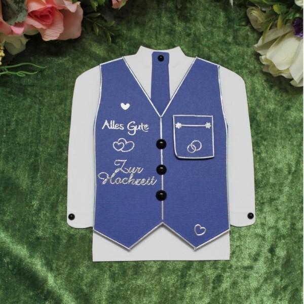 """Glückwunschkarte zur Hochzeit """"Hemd mit Weste"""""""