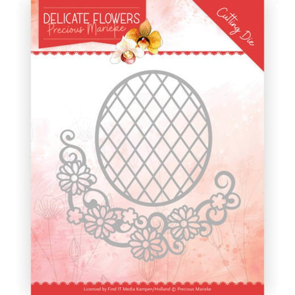 Delicate Flower Oval - Delicate Flowers Collection - Stanzschablone