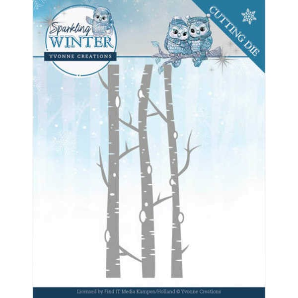 Birch trees /Birken - Sparkling Winter Collection von Yvonne Creations (YCD10188)