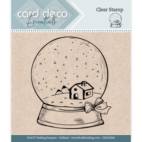 Globe / Schneekugel - Clearstamp / Stempel von Card Deco Essentials (CDECS064)