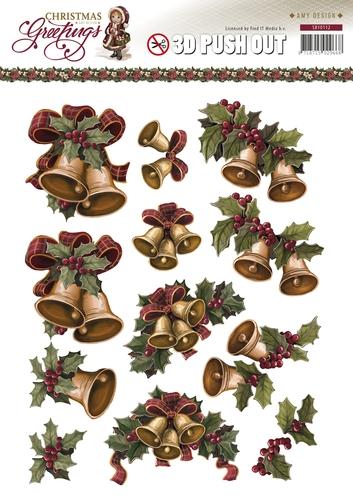 Weihnachtsglocken - 3D - Stanzbogen