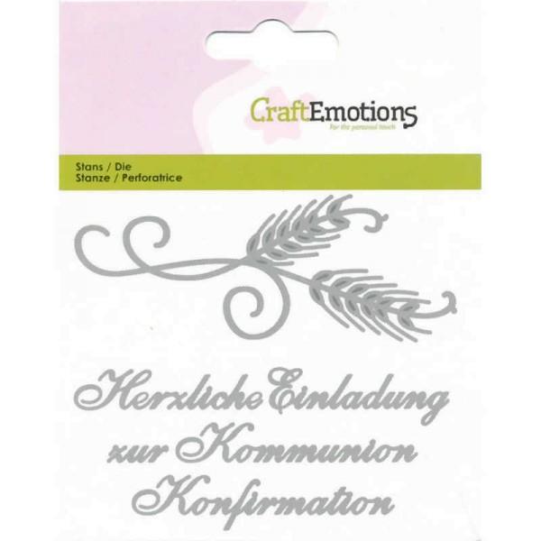 Einladung Kommunion / Konfirmation - Textschablone von CraftEmotions (115633/0419)