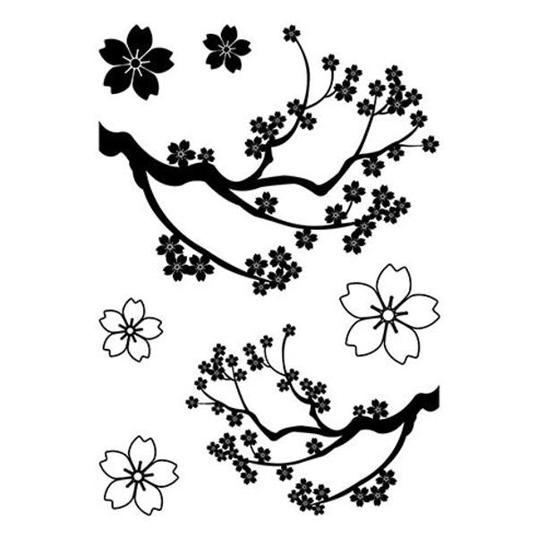 Sakura - Japanische Kirschblüte - Stempel - Clearstamp