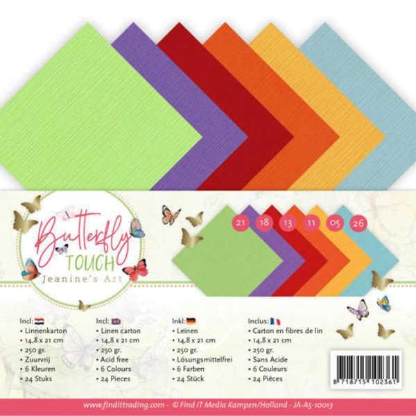 A5 - Leinenpapier - Butterfly Touch