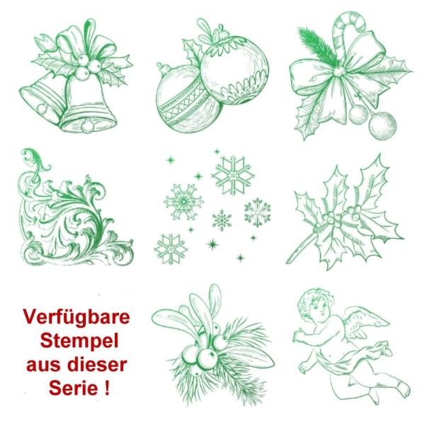 8 Weihnachtliche Stempel zur Auswahl - Stempel - Clearstamp