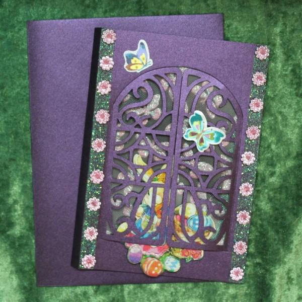 Grusskarte zum Osterfest - Fensterkarte