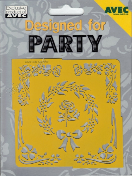 Designed for Party - No. 9 - Prägeschablone / Embossing-Folder