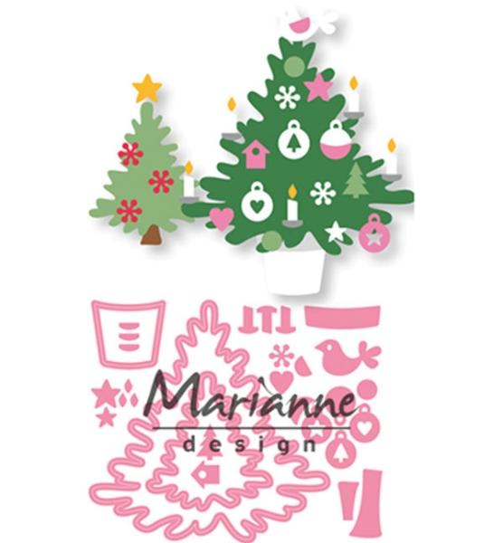 Eline´s Christmas tree / Weihnachtsbaum - Stanzschablone