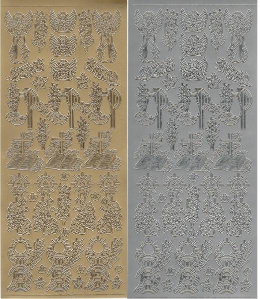 Religiöse Symbole Nr. 1 - Sticker - in Gold oder Silber - Format 10x23cm