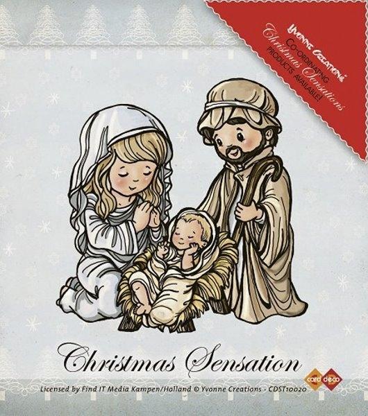 Jesus, Maria und Josef - Stempel / Clearstamp