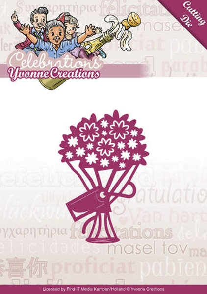 Bouquet - Stanzschablone
