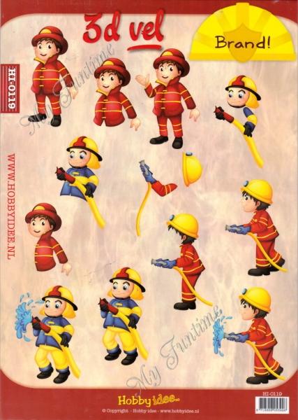 3D-Schneidebogen - Feuerwehrmänner