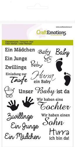 Texte Baby - Clear Stamp - Stempelplatte von Craft Emotions (130501/1156)