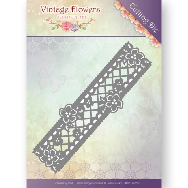 Floral Border - Vintage Flowers Collection - Stanzschablone
