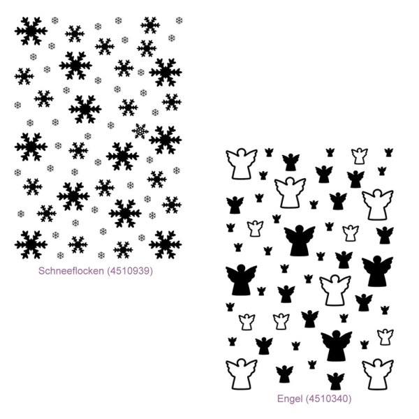 Schneeflocken oder Engel - Hintergrund Stempel / Clearstamp von efco