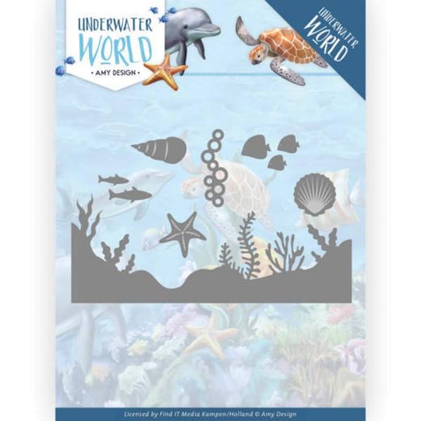 Sea Life - Underwater World - Stanzschablone